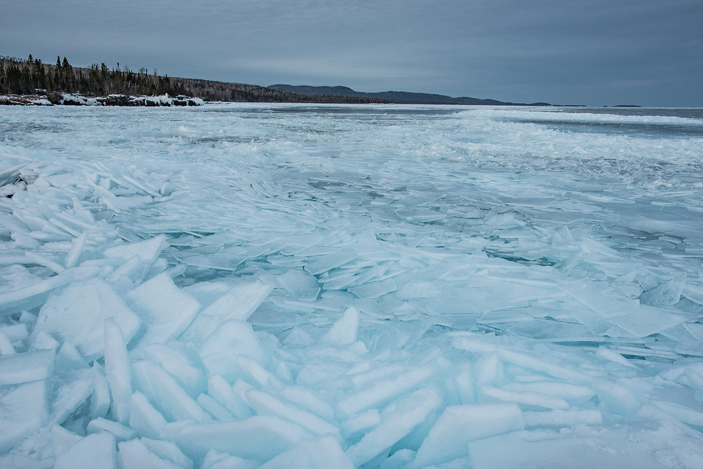 """""""Late March Ice Piles"""""""