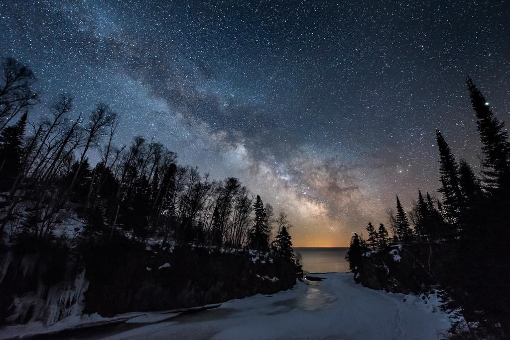 """Milky Way over Temperance River"""