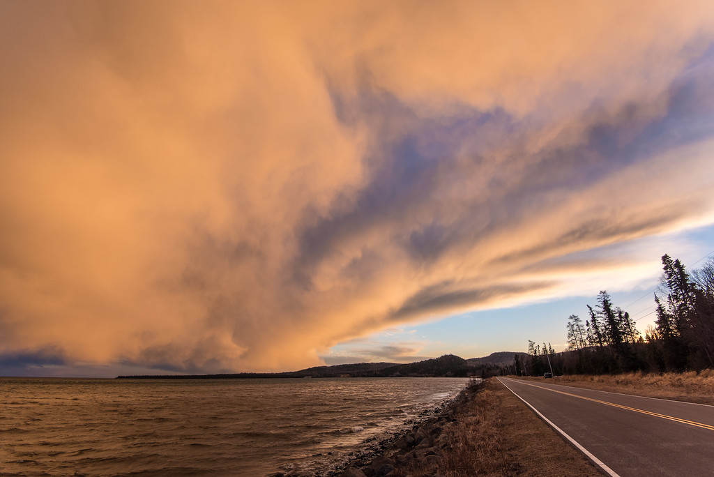 "GRAND PORTAGE 3743<br /> <br /> ""Sunset Squall over Grand Portage Bay"""