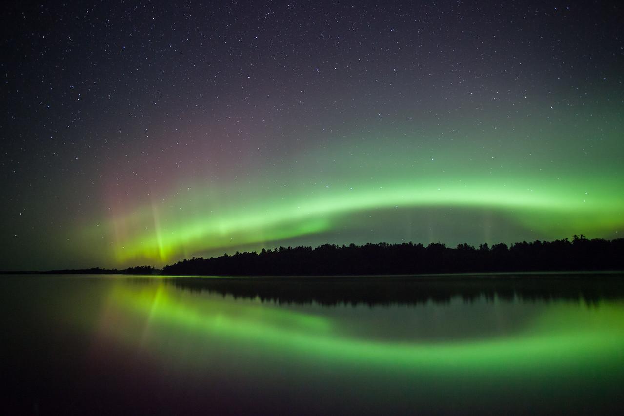 """AURORA 9400<br /> <br /> """"Vermilion Aurora""""<br /> <br /> Lake Vermilion State Park, MN - August 28, 2014"""