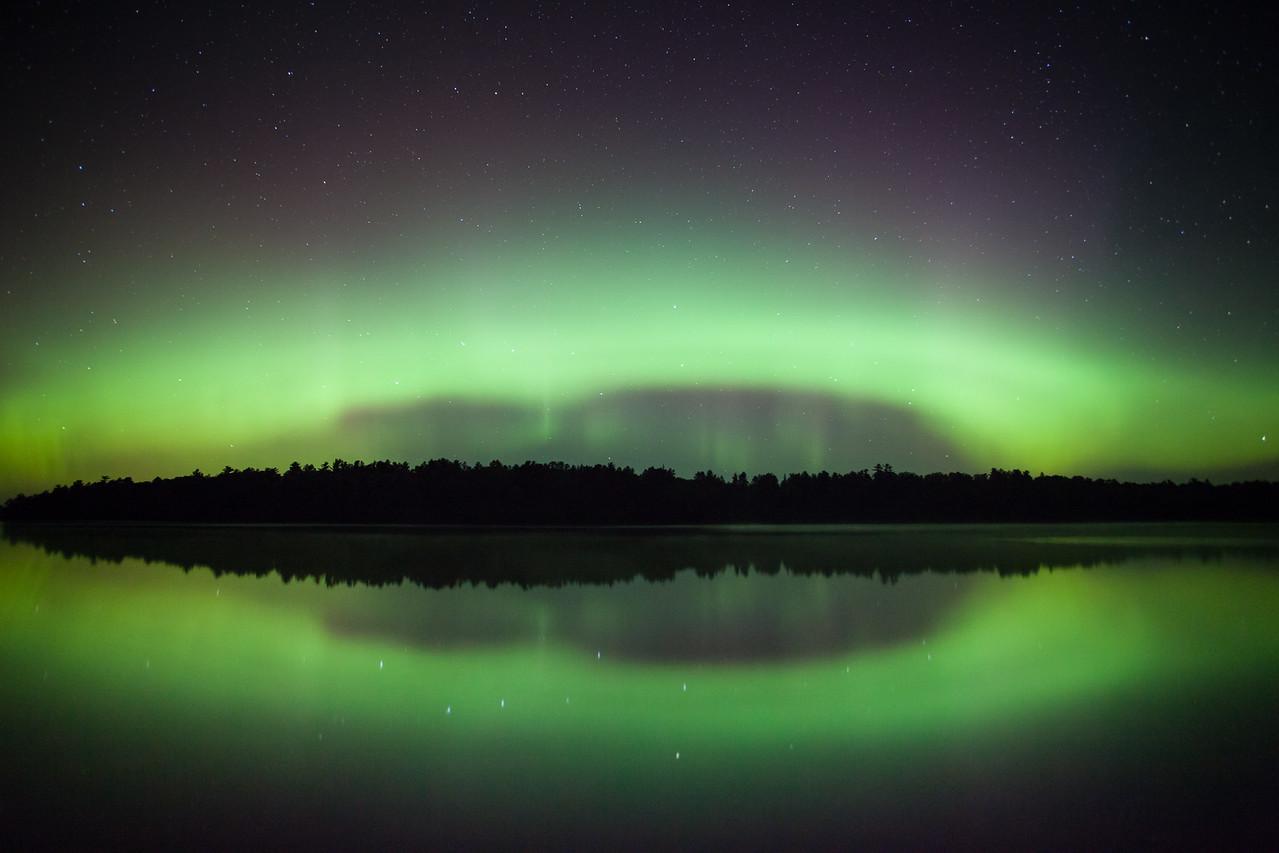 """AURORA 9410<br /> <br /> """"Vermilion Aurora""""<br /> <br /> Lake Vermilion State Park, MN - August 28, 2014"""
