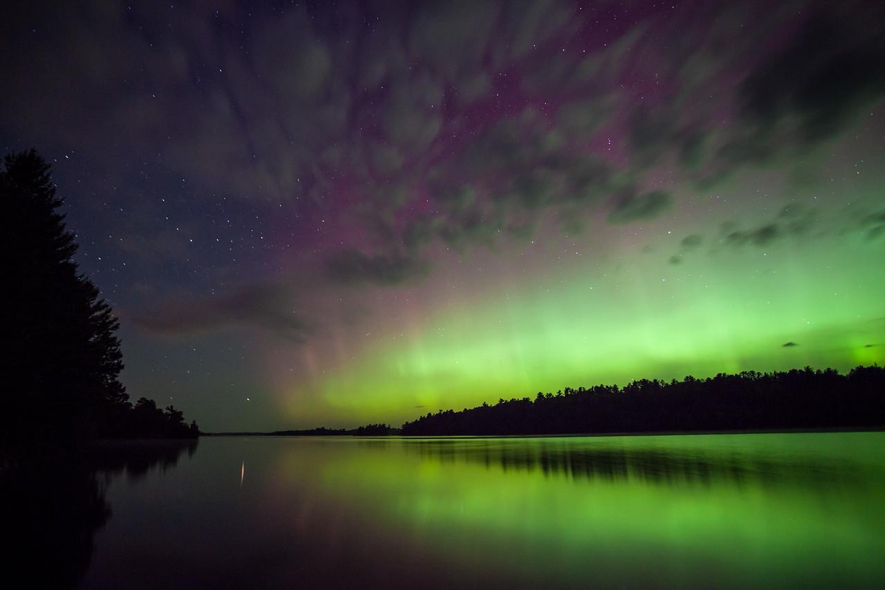 """AURORA 9325<br /> <br /> """"Vermilion Aurora""""<br /> <br /> Lake Vermilion State Park, MN - August 28, 2014"""