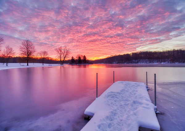 Fiery Winter Skies