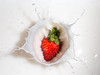 Strawberry and Cream | Splash photography