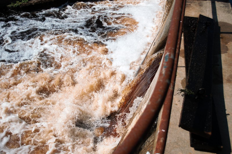 Flow Increase After Boards Pulled at Elm Street Dam