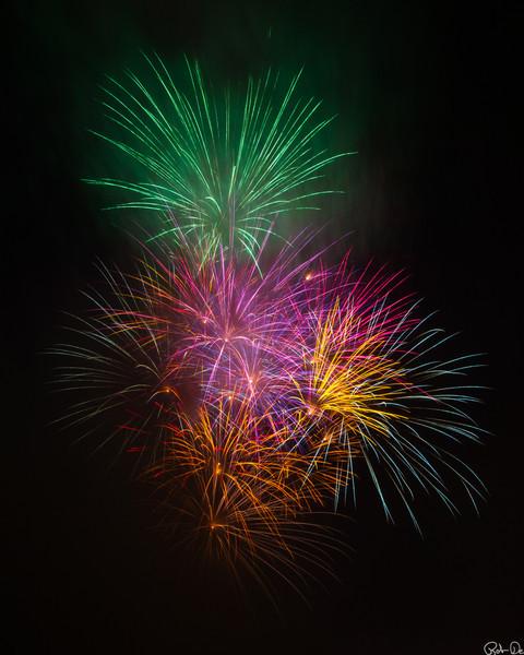 Multi-color Fireworks