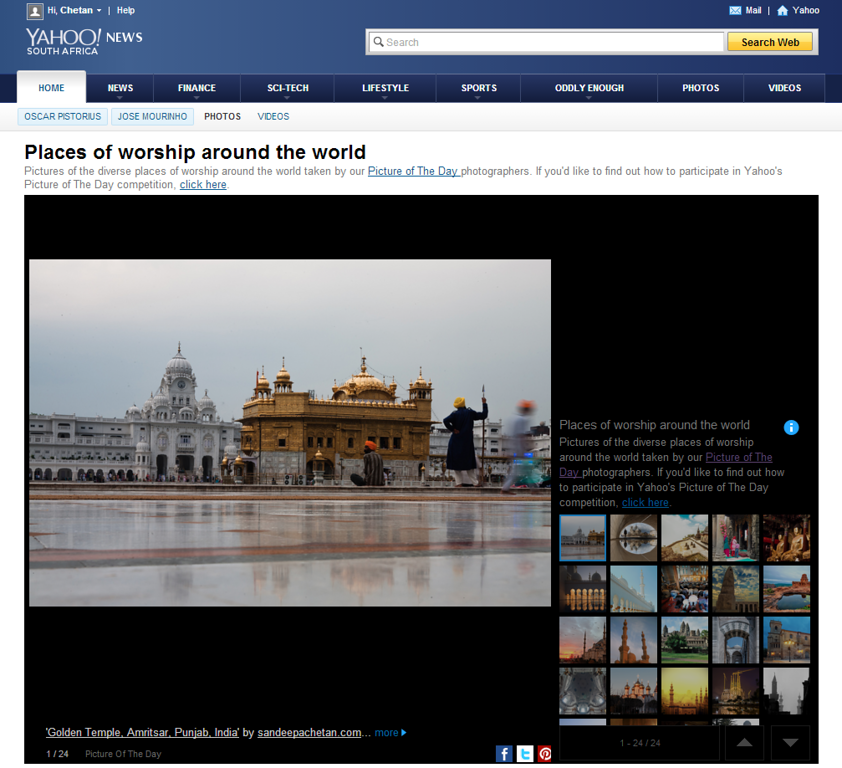 Places of worship around the world