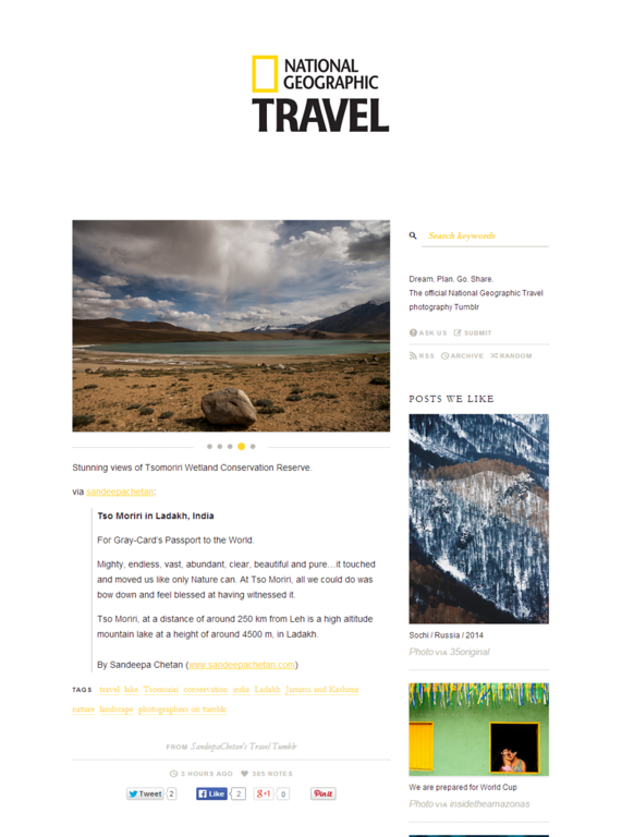 National Geographic Travel tumblr