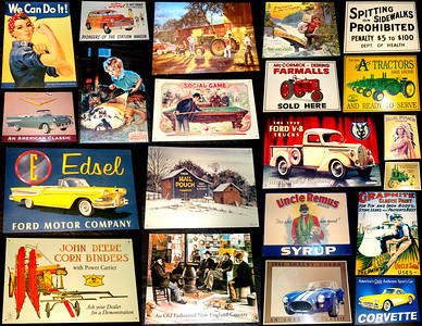 Small Collection of Kool One-Only Vintage Aluminum Wall Signs.  Most measure approximately 17 x 12 1/2 or 11 x 16.