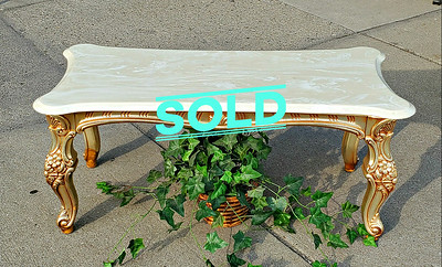 Provincial Marble Top Coffee Table