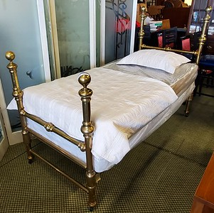 Antique Solid Brass Bed Frame