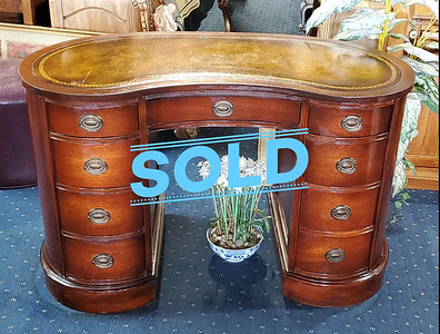 Antique Kidney Shape Desk