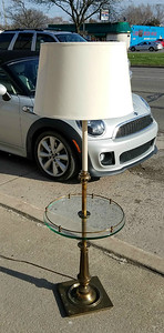Brass End Table Floor Lamp
