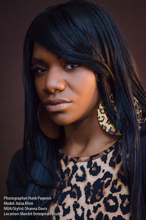 Model: Aziza Allen MUA: Shanna Davis Photographer: Hank Pegeron