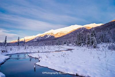Eagle River Winter Scene