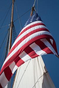 Furled Flag and Tall Ship