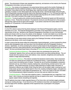Featured Photographer Procedures & Rules Page 2of2