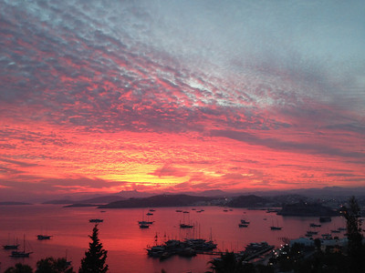 Bodrum, Turkey sunset - view from the room