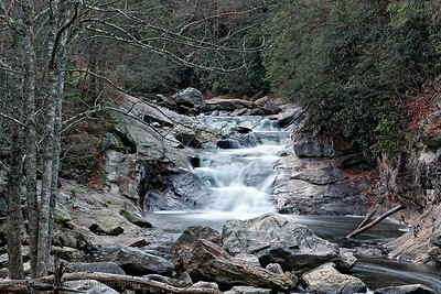 Cold, rocky stream, western North Carolina.