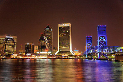 Jacksonville, Florida by night.