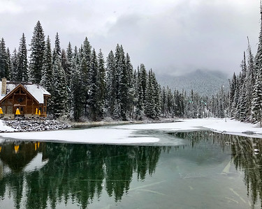 Snowy Emerald Lake