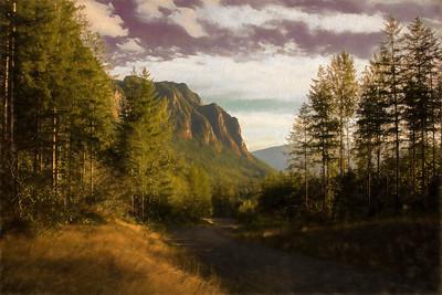 Mt Si Golden Hour North Fork Rd Monet Impression