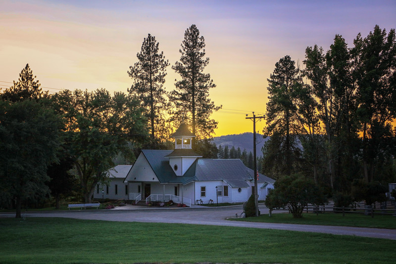 Cedonia Community Church Golden Hour Sunset 8-18-19