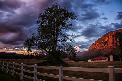 Mountain Meadows Farm Sunset Mt Si Summer 2016