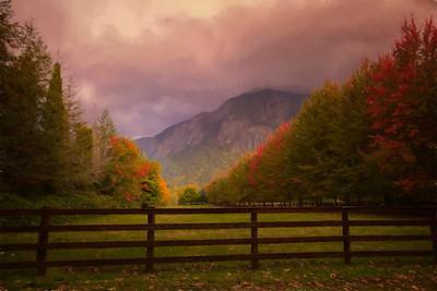 Country Farm Golden Hour Monet
