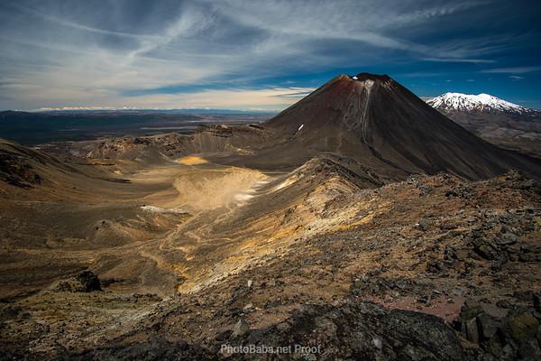 Mount Ngauruhoe and Ruapehu from Tongariro