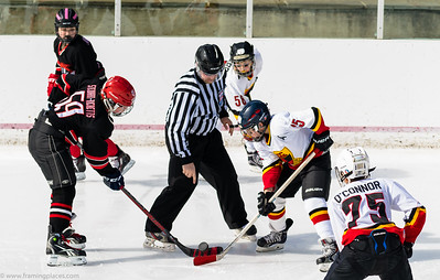 The Well's Warriors Pee Wee ice hockey team play Chevy Chase at Chevy Chase Country Club