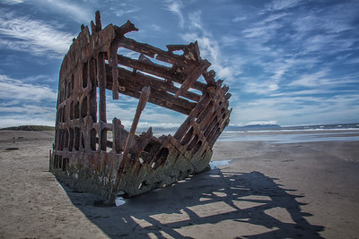 Wreck of the Peter Iredale Front View
