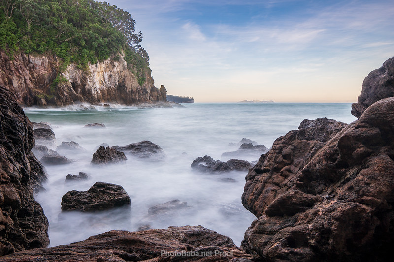 Mystical New Zealand Ocean Bay and Cliffs