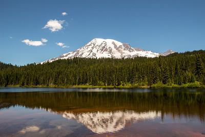 Mount Rainier Reflection Lake Landscape 7-7-14