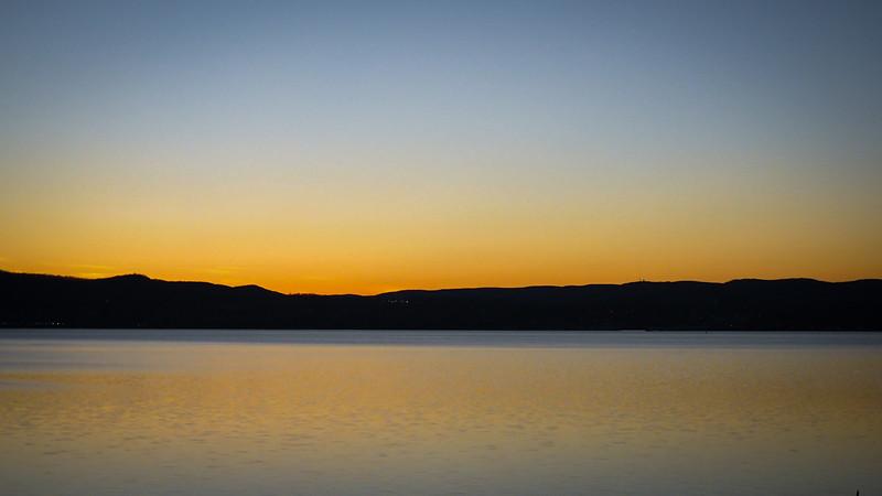 Sunset Over Hudson Hudson River - Oscawana Landing - Dec 2016