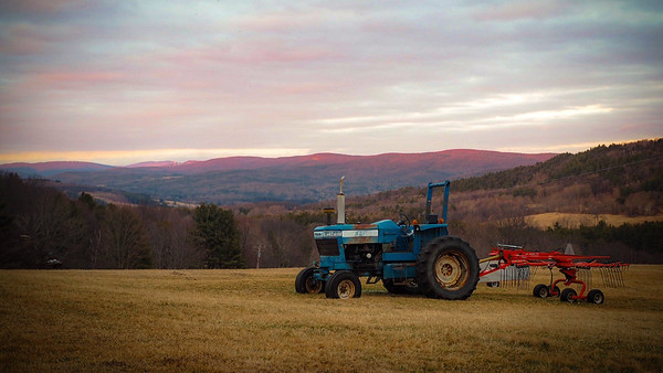 Tractor At Sunset - East Chatham, NY - Dec 2015
