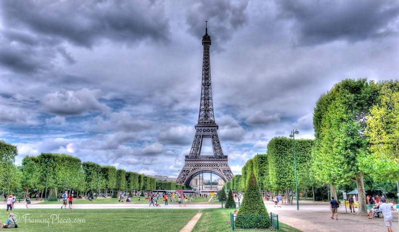 Champ de Mars, Paris, France - Facing the Eiffel Tower