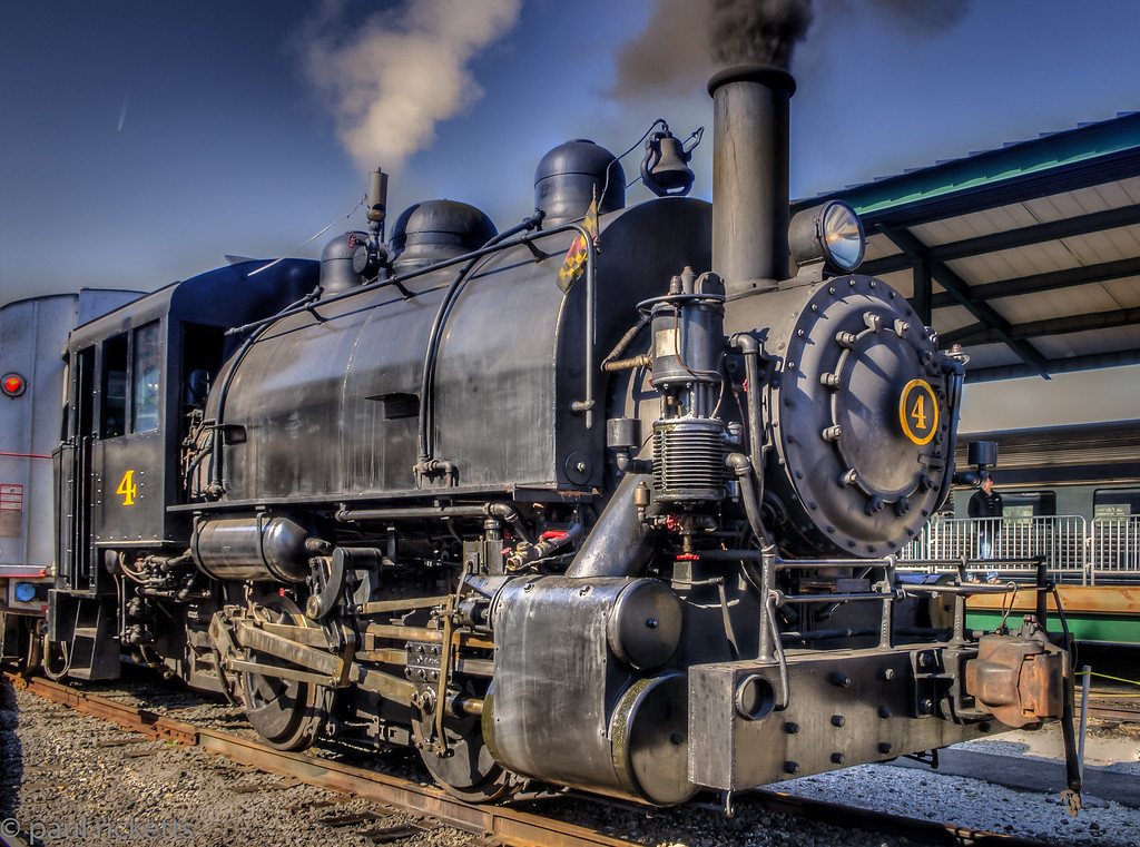 The St. Elizabeth Locomotive at the B&O Railroad Museum during steam days