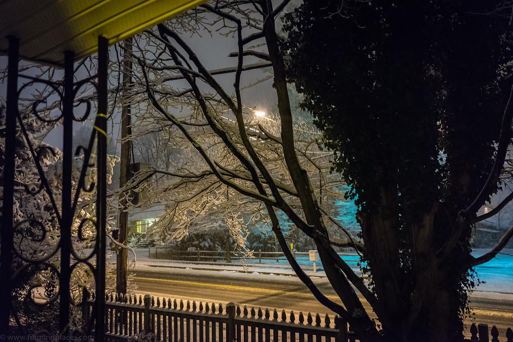 Street View of Snow Storm, Lanham, Maryland, 2014