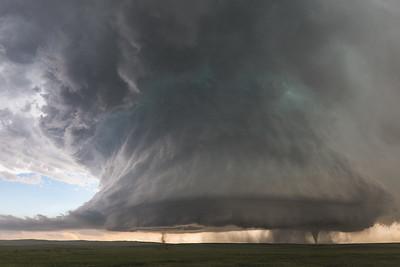 Sister Tornados Under Supercell // Simla, Colorado