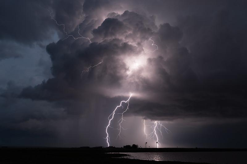 Lightning in Childress, Texas
