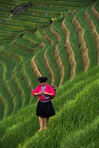 Yao woman, Longhi Rice Terraces, China