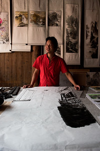 Calligrapher and artist, Ancient Daxu town