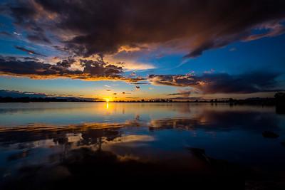 Sunset #1 at Bountiful Pond, 2016