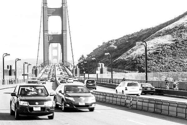 North of Golden Gate Bridge, near Sausalito, California