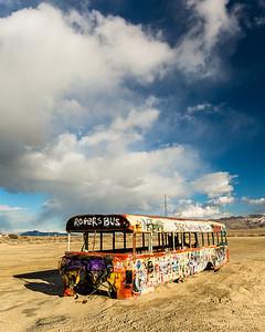 Abandoned bus, Delle, Utah