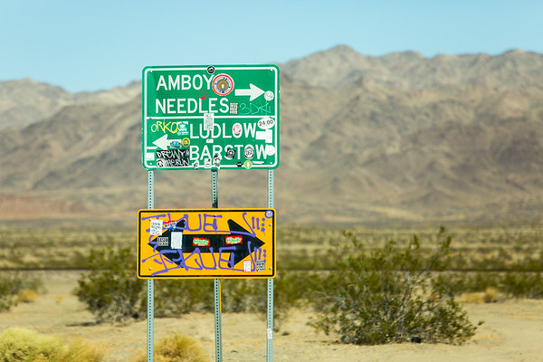 Route 66 near Amboy, California