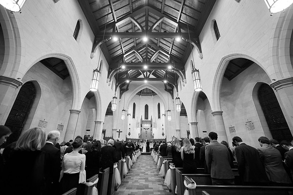 Emily & Ben's Ceremony at the Holy Rosary in Houston, TX
