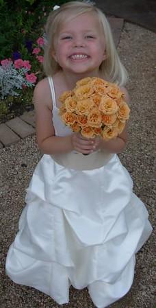 Flowergirl bouquet of macarena spray roses