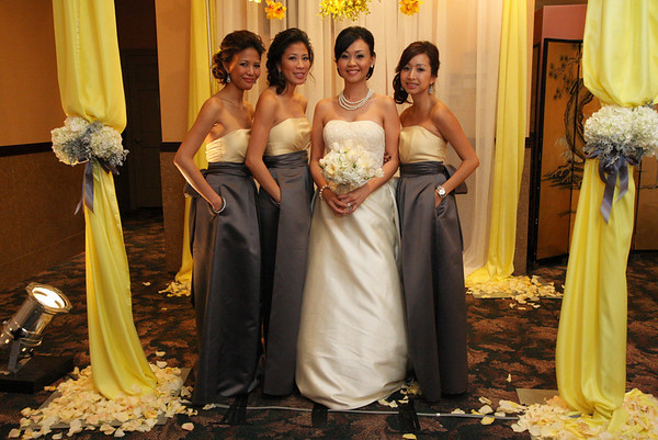 This chiffon chuppah was not suppose to be draped in yellow but overall the affect was still cool with the lighting.
